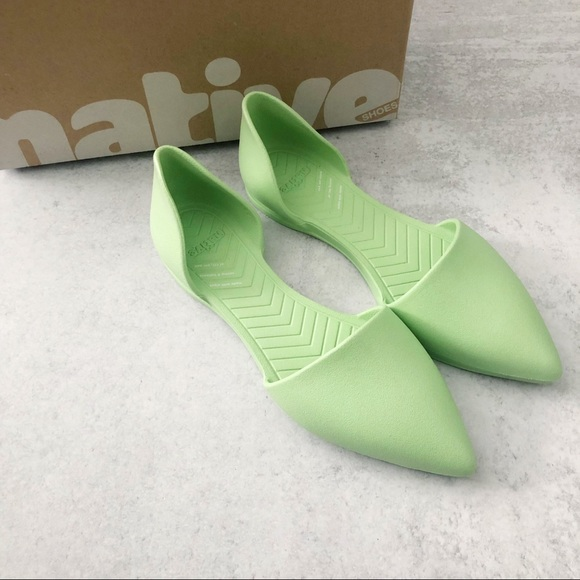 Native Green Audrey Bloom Open Sided Flat NEW